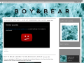 Boy & Bear Official Website