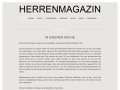 Herrenmagazin Official Website