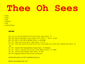 Thee Oh Sees Official Website